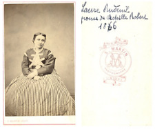 S. Martin, Une dame nommée Laure Rudeuil CDV vintage albumen carte de visite,