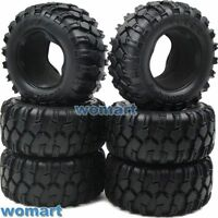6pcs RC 1/10 90mm Tires W/ Foam For RC4WD Axial Tamiya Rock Crawler Truck Parts