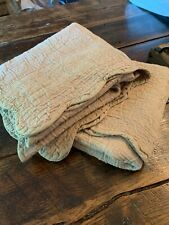 Pair of (2) Taupe King all cotton scalloped edge bed pillow shams