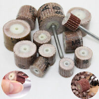 12pc Sanding Flap Wheel Sand Paper Rotary Grinder Drill Bit 80~600 Grit