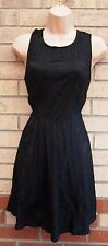 AX PARIS FLORAL LACE CUT OUT SKATER FLIPPY RARE TEA VTG BLACK VTG DRESS 14 L