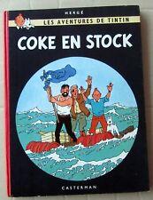 TINTIN HERGE COKE EN STOCK EO BELGE B24 1958 SUPERBE QUASI NEUF