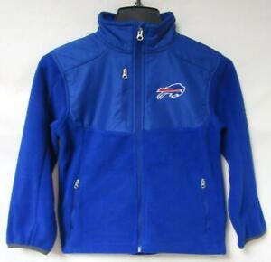 Buffalo Bills Youth Size M (5/6) or L (7) Full Zip Fleece Jacket MSRP $50 B4 71