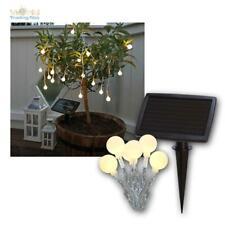 LED Solar Lichterkette warmweiß 20 weiße Kugeln IP44 Winter tauglich Innen/Außen