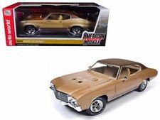 1970 Buick Skylark GS Hemmings Muscle Machines Gold 1/18 By Auto World AMM1105