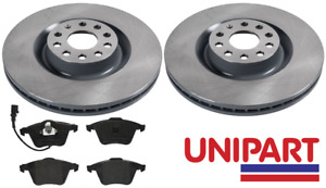 For Audi - A3 S3 quattro 2006-2012 Front 345mm Brake Discs and Pads Unipart