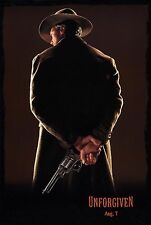 UNFORGIVEN (1992) ORIGINAL ADVANCE MOVIE POSTER  -  ROLLED  -  WITH RELEASE DATE