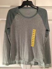 NWT Adidas Ladies Performer C-Up Top Tee Size S Small Green Long Sleeves