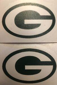 """Green Bay Packers 2 Pack Of Decals 4.25""""x7.25"""" Vinyl Sticker **FREE SHIPPING**"""