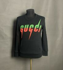 Gucci Big Logo Authentic Men's Black Crewneck Sweater Size XS