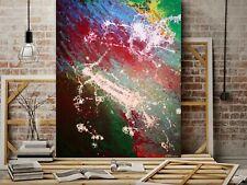 WEISE XXL Acryl BILD Abstrakt Gemälde Leinwand 100 x 80 auf Keilrahmen Nr. 70/19