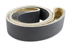 2 X 42 Inch Silicon Carbide Extra Fine Grit Sanding Belts 600, 800, 1000 Grits