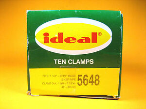 "Ideal  5648  Hose Clamp Worm Drive 3-1/2"" Diameter Size 48 / 90mm  Box of 10"