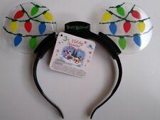 Disney Parks Mickey Ears Light Up Bulbs Animated Holiday 2017 Christmas Headband