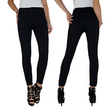 Damen High Waist Stretch Skinny Slim Fit Röhren Jeans Hose bis Übergröße E19
