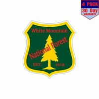 White Mountain National Forest 4 pack 4x4 Inch Sticker Decal