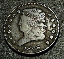Classic Head 1828 Half Cent G-VG Cond. - Rare - 606K Minted - Collectors Coin