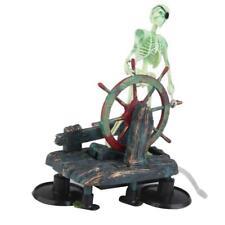 Fish Tank Aquarium Skeleton on Wheel Action-air Aquariums Ornament Landscape