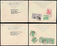 PAKISTAN BOOK POST 1962 AIRMAIL to GB...2 ITEMS...9 stamps