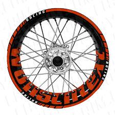 Supermoto Wunschtext - orange Felgenaufkleber Motorrad wheel sticker (Husaberg)