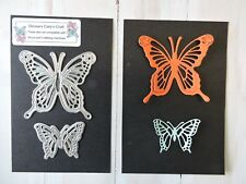 Craft Metal Die compatible with Cuttlebug or Sizzix - Set of 2 Butterflies