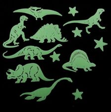 Plastic Glow In The Dark Star Dinosaur Fluorescent Stickers 13 Pcs