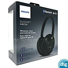 PHILIPS WIRELESS BLUETOOTH HEADPHONES - FOLDING HEADSET - NFC - BLACK - SHB7250B