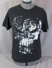 Punisher Smoking Skull Black T Tee Shirt Size M Medium Marvel