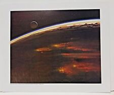 "Ralph McQuarrie Battlestar Galactica Art Print #10- Caprica in Flames 11""x13"""