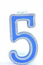 """7"""" Blue Glitter Foam Number """"5"""""""