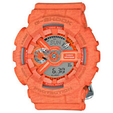 Casio G-Shock Women's GMAS110HT-4A Quartz Heathered Ana-Digi Orange 46mm Watch