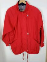 (#8) Vintage Braefair Sport Red Women's Size Medium M Sailing Jacket
