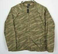 686 Fleece jacket fleece Khaki Green Camo Jacket Zip Up Size Youth XL