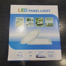 25 LAMPADA PANNELLO LED PLAFONIERA INCASSO PANEL LIGHT ROTONDO 20 W