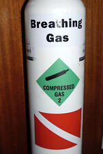 Laminated Compressed Gas, Breathing Gas, Dive Flag, Scuba Dive Cylinder Stickers