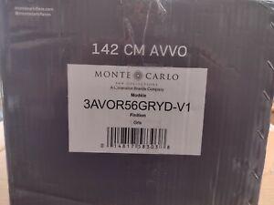 """Monte Carlo Fan Company 3AVOR56GRYD-V1 Avvo Outdoor 3 Blade Grey 56"""" Remote 6 Sp"""