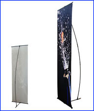 """L Banner Stand W24""""xH64"""" with Free 13Oz Vinyl Banner Printing L100"""