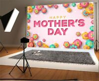 7x5ft Mother's Day Photography Backgrounds Flower Studio Vinyl Photo Backdrops