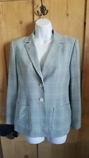 KASPER AND COMPANY ASL PALE MINT GREEN CHECK BLAZER/ JACKET. SINGLE BREASTED....