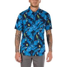 Vans Bonsai SS Blue Floral Mens Medium Button Up Short Sleeve Shirt NWT Hawaiian