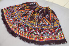 Ethnic Banjara Boho Gypsy Embroidery India Kuchi Rabari Tribal Belly Dance Skirt