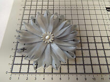 UK-Large,Grey/Silver - Satin Flowers-  Appliques,Trimmings ,Wedding- 90mm x 1