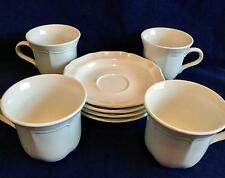 Set of 4 Mikasa French Countryside F9000 Tea Cups & Saucers - FREE SHIP!!