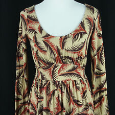 RP by Rachel Pally Feather Print Dress XS Extra Small Stretch Rayon Jersey Knit
