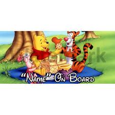 Winnie l'ourson personnalisé bébé à bord voiture signe (3)