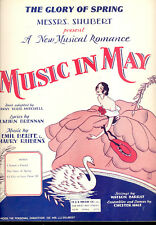 "MUSIC IN MAY Broadway Show Sheet Music ""The Glory Of Sping"""
