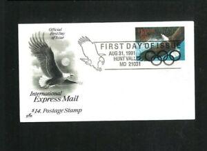 Premier Jour US #2542 8-31-1991, Chasse Vallée, Maryland. Filet 25.00