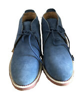 United Colors of Benetton Men's Leather Boots Tan blue Size 8.5