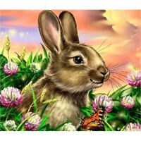 Diamond Painting 5D DIY Cartoon Rabbit In The Grass Full Drill Craft Embroidery