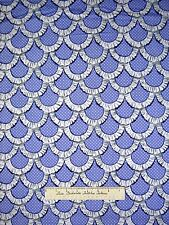 Apron Ruffles Fabric - Printed Periwinkle & White Scallop - Michael Miller YARD